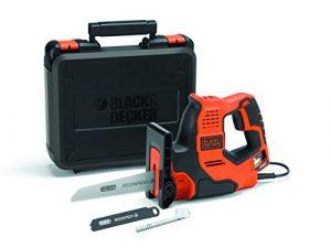 Black+Decker 3-in-1 Autoselect Universalsäge Scorpion 500W RS890K – Elektrische Mehrzwecksäge Hand-, Stich- und Astsäge mit Koffer – 23mm Hublänge