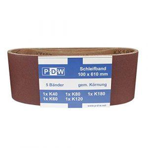 30 Stück Gewebe-Schleifbänder 100 x 610 mm K40-180 Schleifpapier Schleifband Bandschleifer