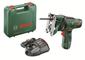 Bosch Akku Multisäge EasySaw 12 (Akku, Ladegerät, Sägeblatt, Koffer (12 V, 2,5 Ah, 30 mm Schnitttiefe in Holz))
