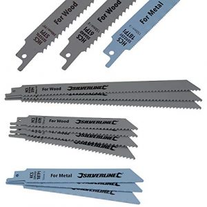 Sägeblätter Säbelsäge für Metall und Holz 10-tlg. Satz