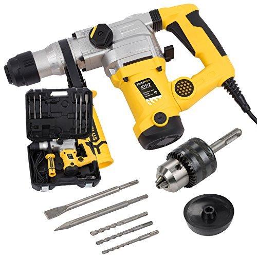 Elektrischer Bohrhammer Bohrmaschine Schlagbohrhammer 1.250W + Bohrer + Meißel