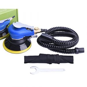 Staubfrei Exzenterschleifer Druckluft 125mm, Multischleifmaschine mit Staubsammler, professionelle Polierer Set