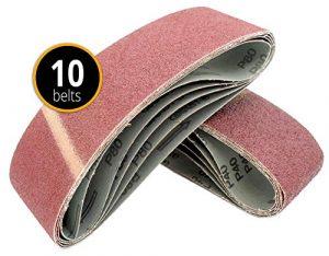 10 Stück Gewebe-Schleifbänder 100 x 560 Körnungen je 2 x 40/60 / 80/120 / 180 Schleifband Bandschleifer