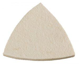 kwb Quick-Stick Polierscheibe – für Delta-Schleifer, 96 mm, selbsthaftend, Velours-Rückseite, aus Filz mit Klett